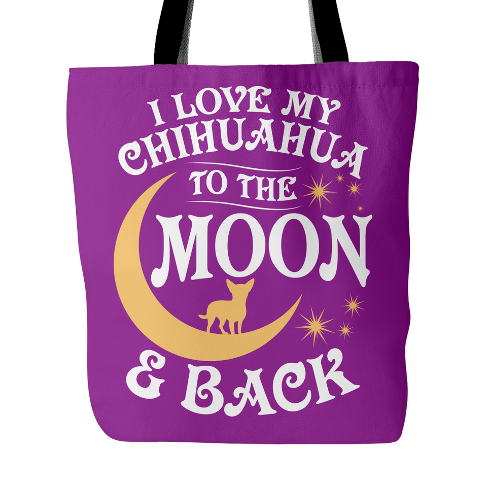 Tote Bag-I Love My Chihuahua To The Moon & Back ccnc003 dg0061