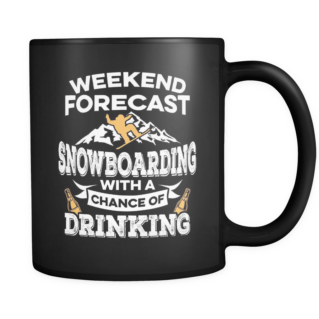 Black Mug-Weekend Forecast Snowboarding With a Chance of Drinking ccnc004 sw0006