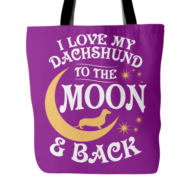 Tote Bag-I Love My Dachshund To The Moon & Back ccnc003 dg0062