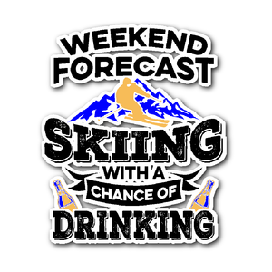Sticker-Weekend Forecast Skiing With a Chance of Drinking ccnc005 sk0015