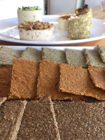 Raw Sprouted Crackers - pack of 6 - $8.00 @80grams