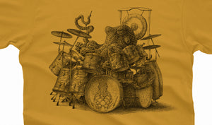 Octopus playing drums Tshirt