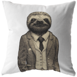 Stylish Sloth Throw Pillow