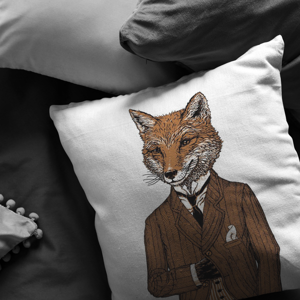 Dapper Fox Pillow