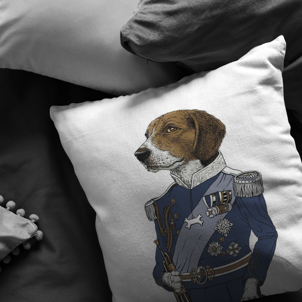 Regal Beagle Decorative Throw Pillow