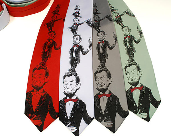 Cartoon Abraham Lincoln Necktie