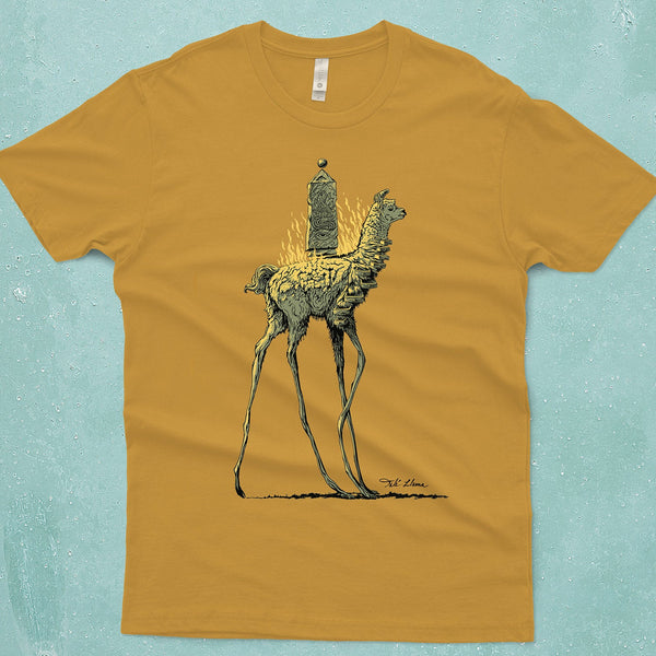 Dahli Llama Surreal Mens Graphic Tshirt