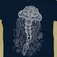 Celtic Jellyfish Shirt - glow-in-the-dark ink - glow in the dark shirt