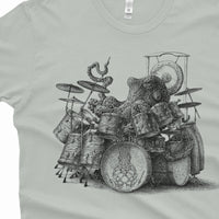 Octopus Playing Drums Shirt - Graphic Tee Octopus Drummer - Octopus T-Shirt