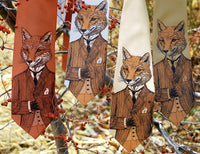Men's fox necktie