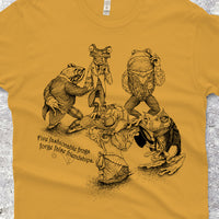Five Fashionable Frogs Forge False Friendships Shirt