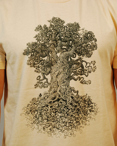 Tree shirt detailed drawing printed on an American Apparel Tshirt.