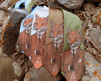Men's silk fox tie