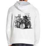 Screen Printed Hoodie- Choose Your Image: Squid, Octodrummer, Mushrooms, Forest