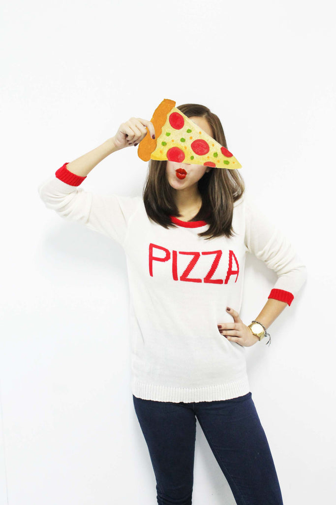Pizza Fest Sweater - Cream