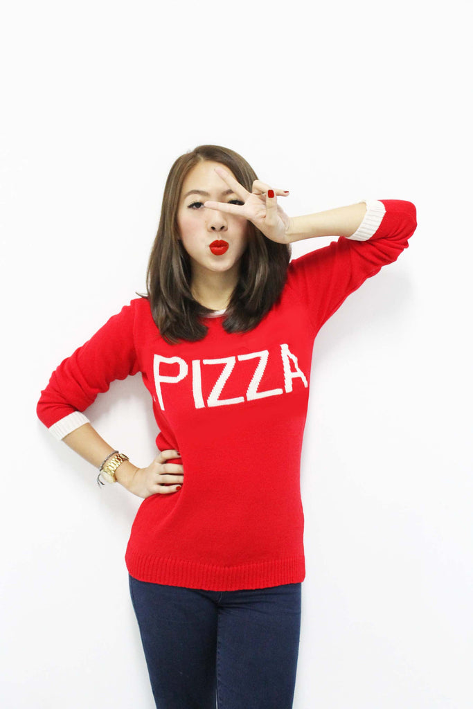 Pizza Fest Sweater - Red
