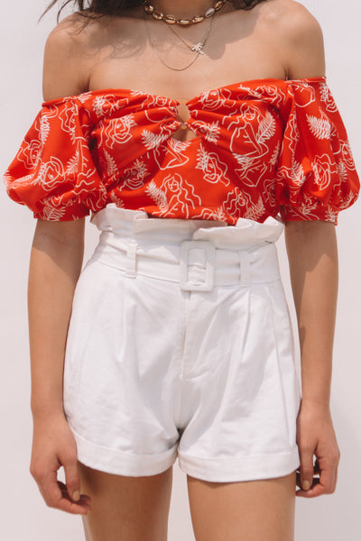 Fire Lily Off-shoulder Top
