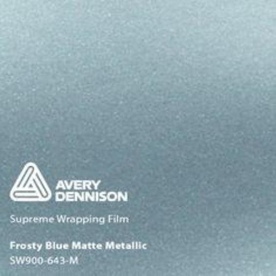 Avery Dennison - Matte Metallic Frosty Blue