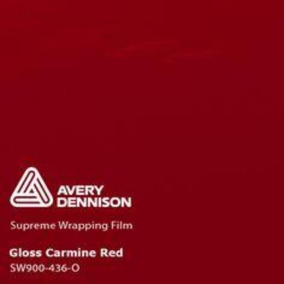 Avery Dennison - Gloss Carmine Red