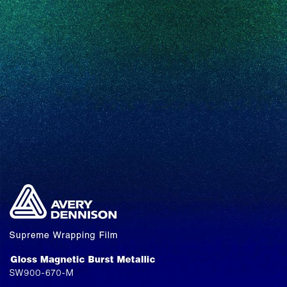 Avery Dennison - Gloss Metallic Magnetic Burst