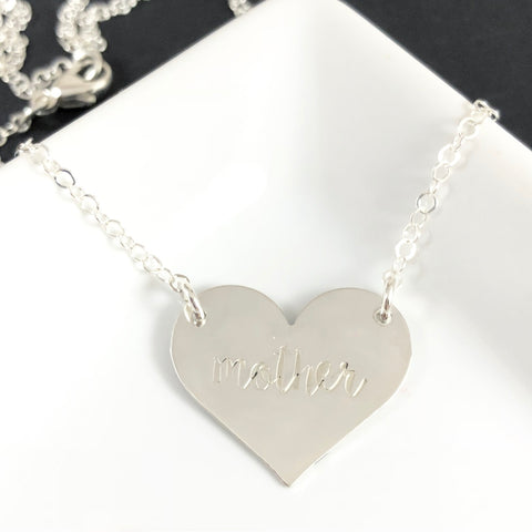 MEDIUM STERLING SILVER HEART