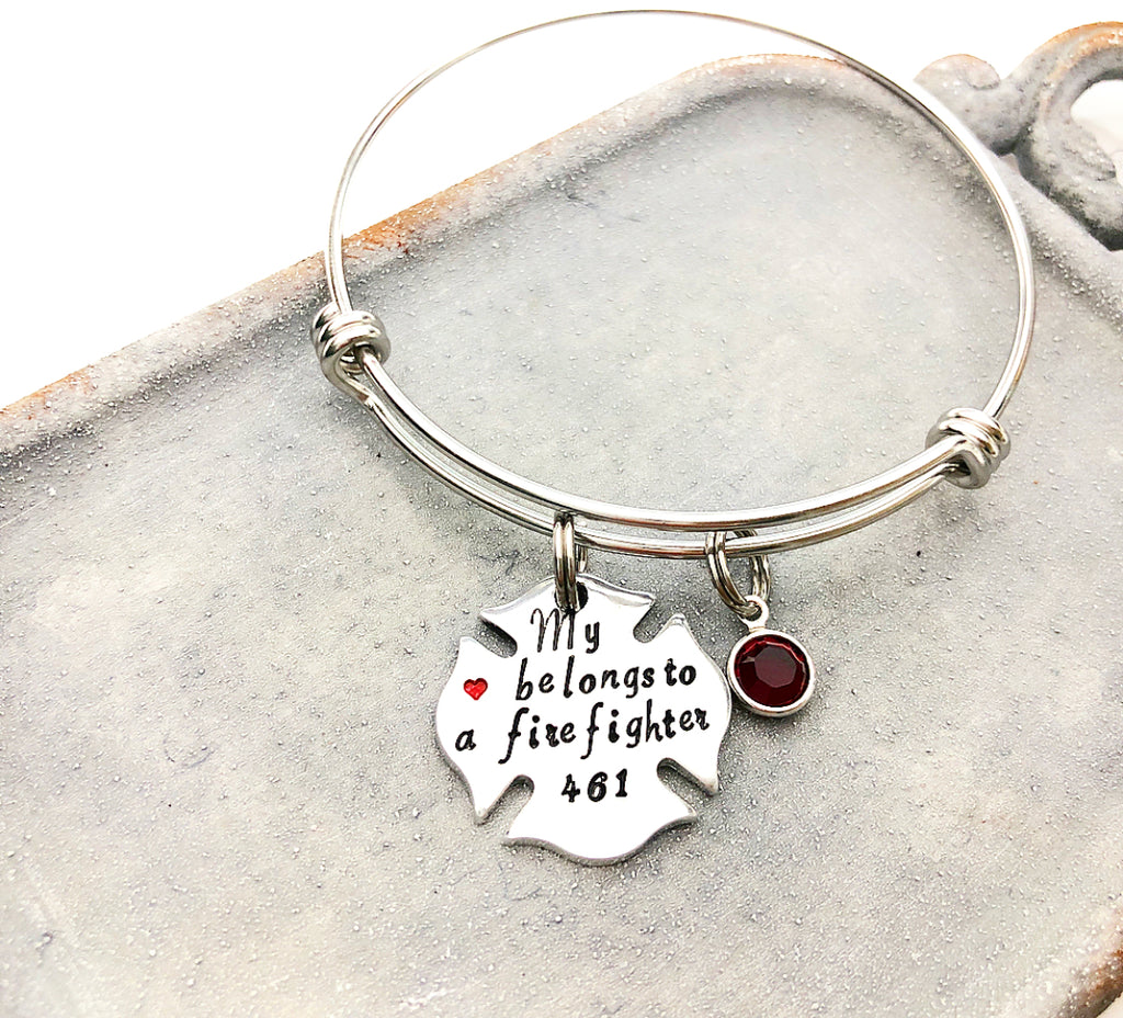 FIREFIGHTER WIFE BANGLE