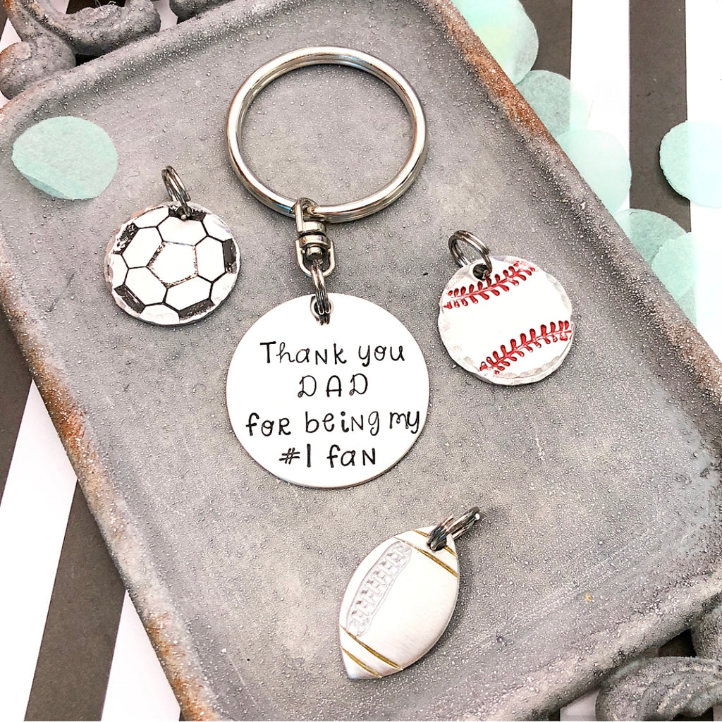 #1 FAN KEYCHAIN