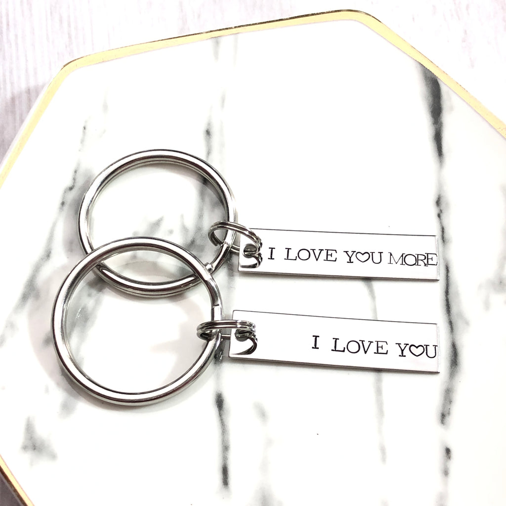 I LOVE YOU THE MOST KEYCHAIN SET
