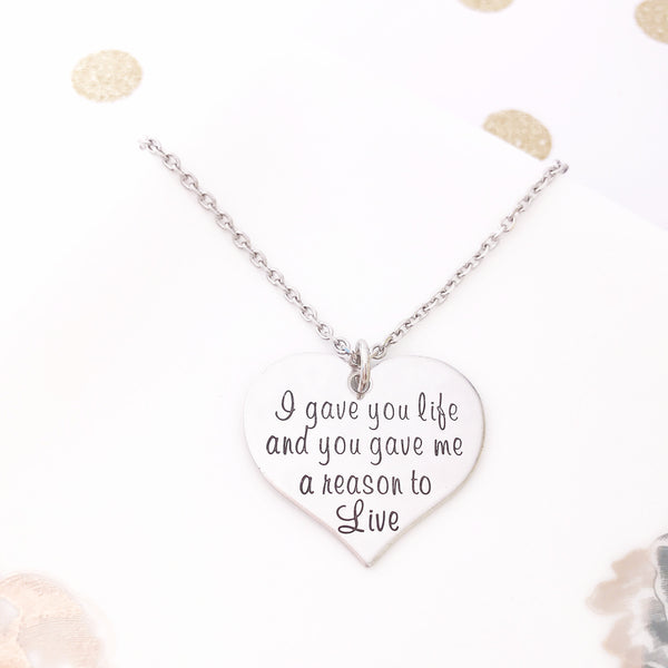 I GAVE YOU LIFE NECKLACE