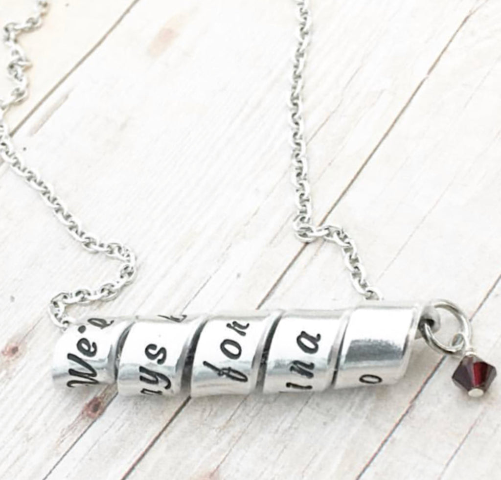 SPIRAL MESSAGE NECKLACE