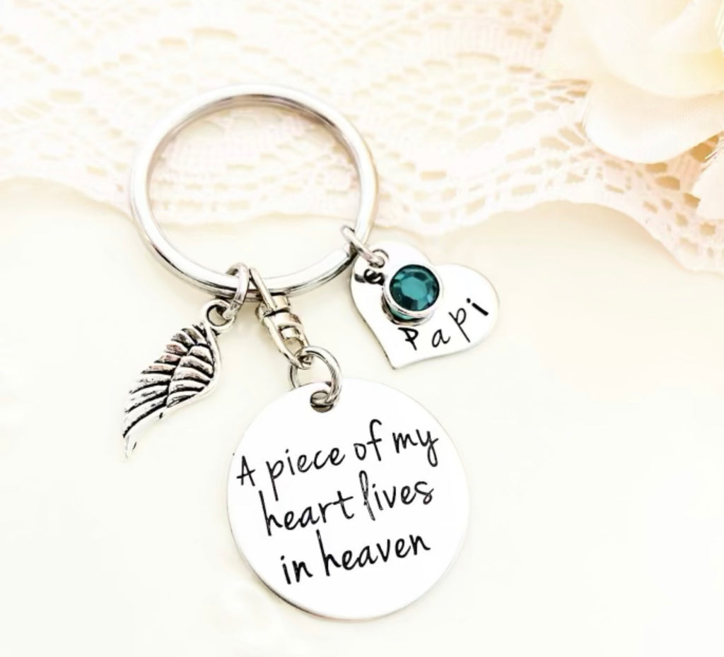 A PIECE OF MY HEART-DISK KEYCHAIN