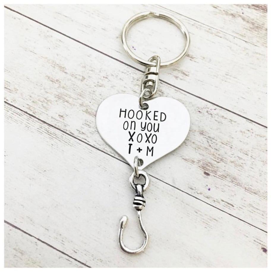 HOOKED ON YOU KEYCHAIN