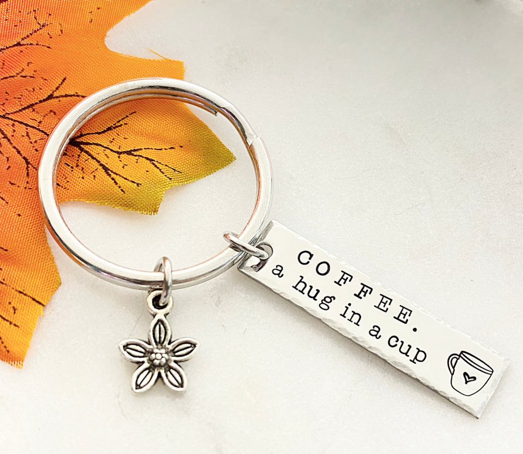 A HUG IN A CUP KEYCHAIN