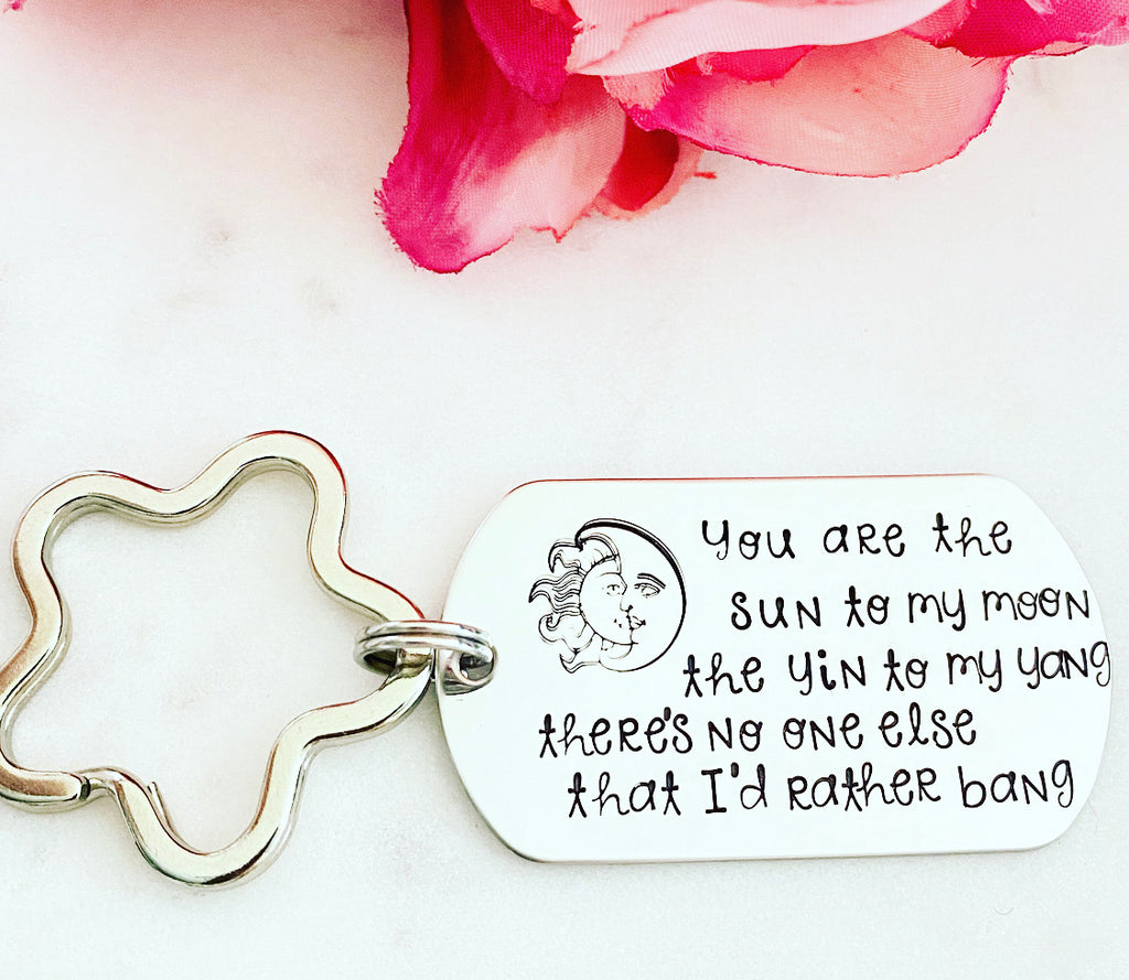 YOU ARE THE SUN TO MY MOON KEYCHAIN