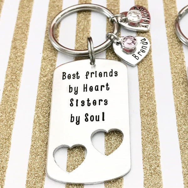 DOG TAG WITH TWO HEARTS CUTOUT
