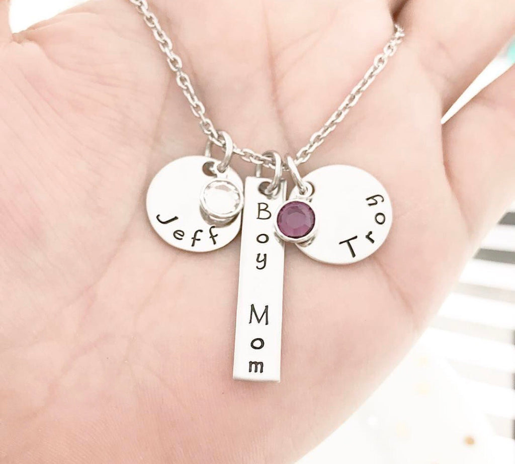 DISK + BAR NECKLACE