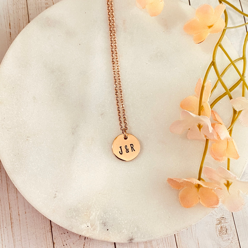 SMALL DAINTY DISK NECKLACE