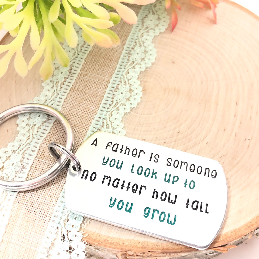 COLORFUL DOG TAG KEYCHAIN