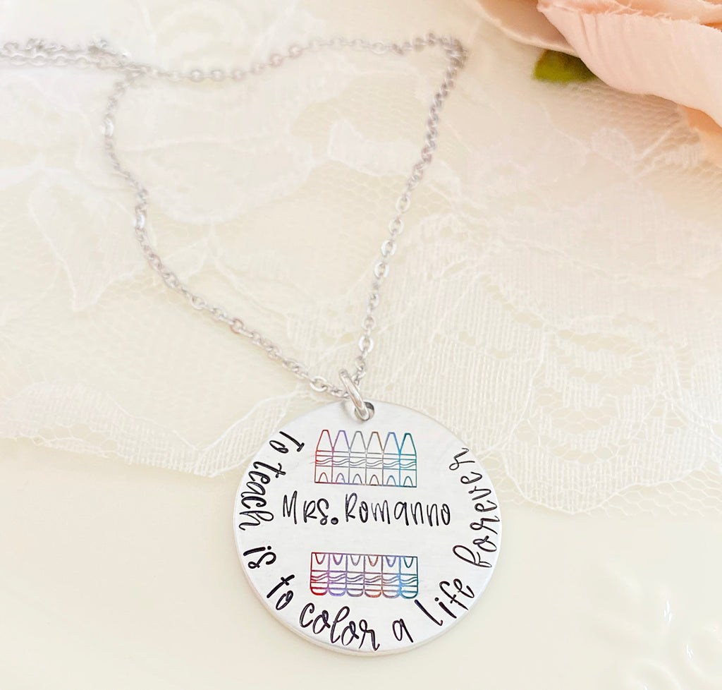 COLOR A LIFE-TEACHER NECKLACE