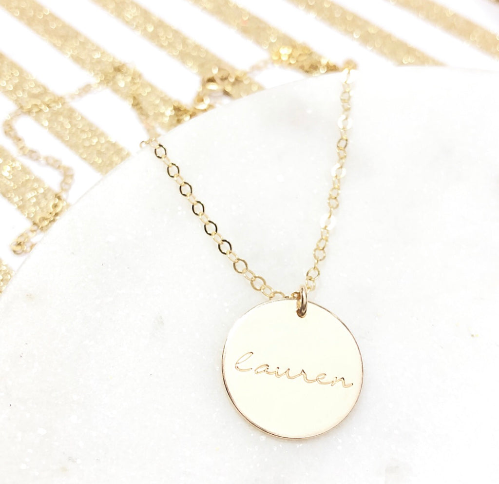 ALLURA DISK NECKLACE