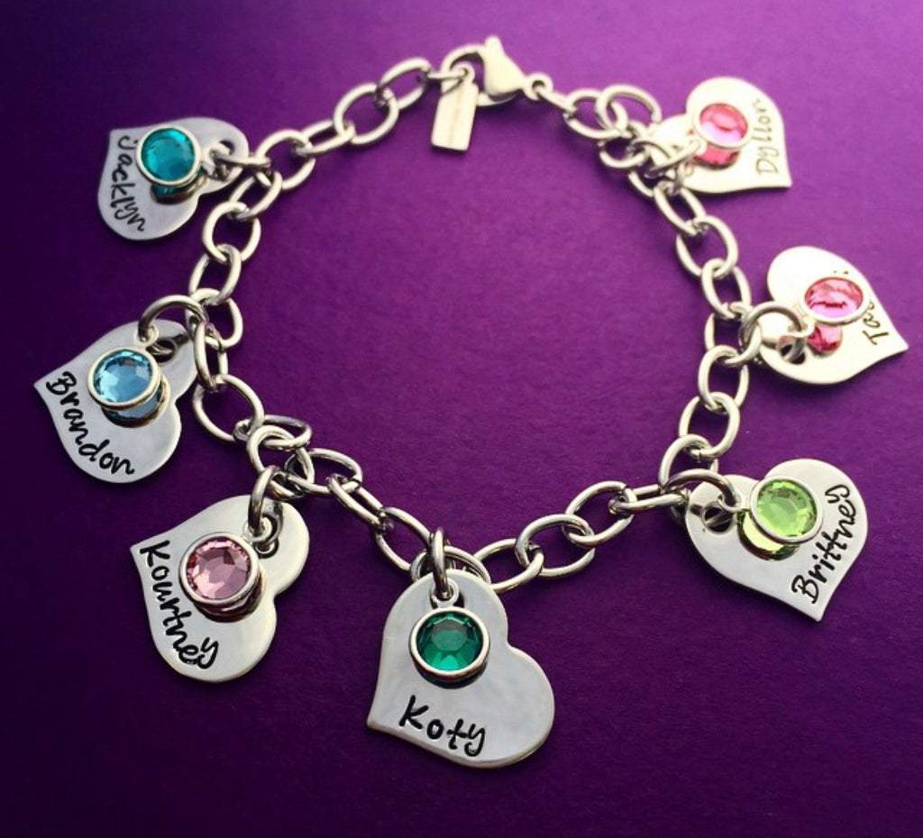 HEART CHARM BRACELET UP TO 15 HEARTS