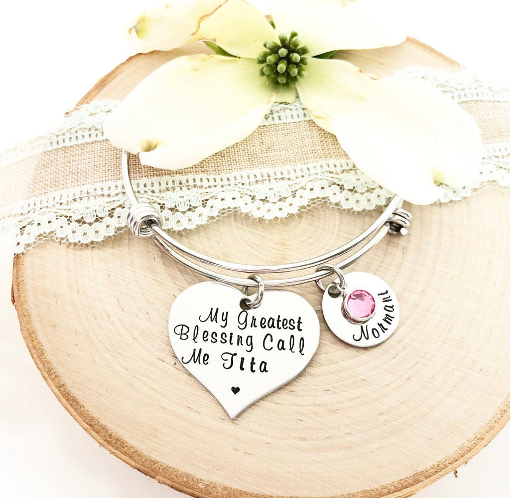 CUSTOMIZED HEART BANGLE