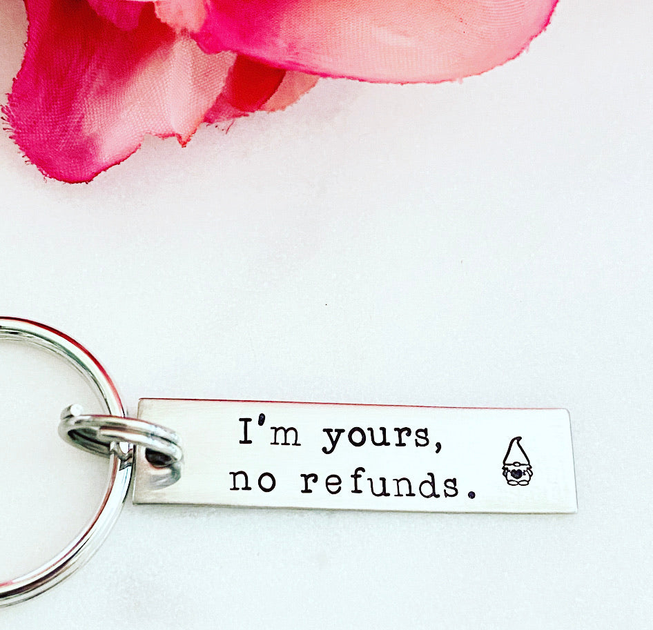 I'M YOURS GNOME BAR KEYCHAIN