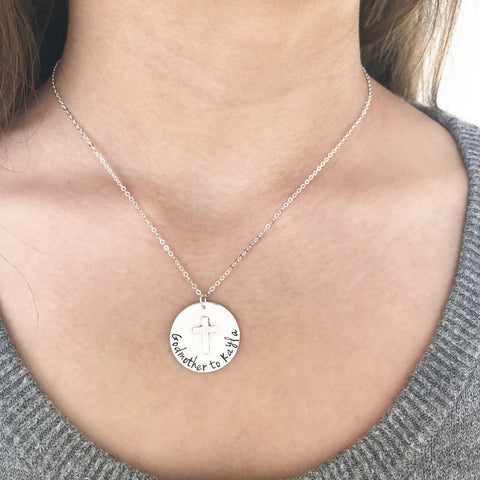 CROSS DISK NECKLACE