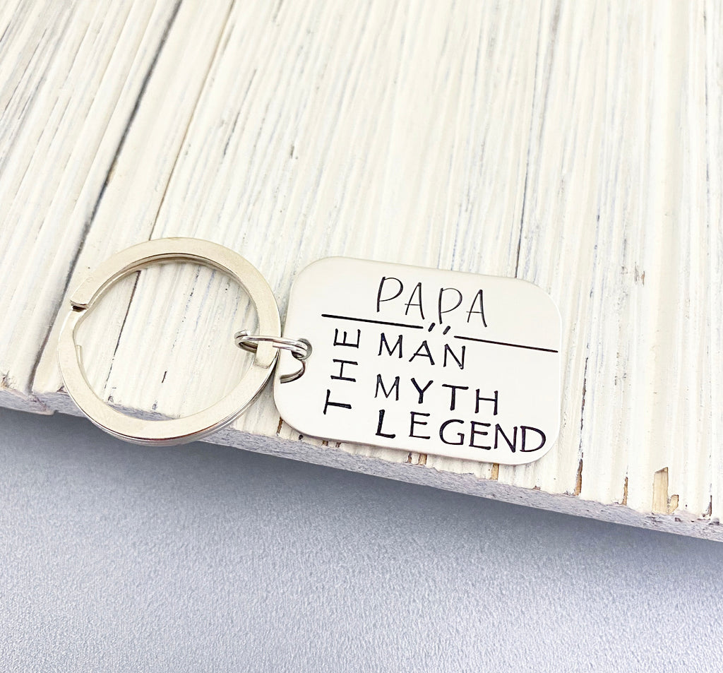 THE LEGEND RECTANGLE KEYCHAIN