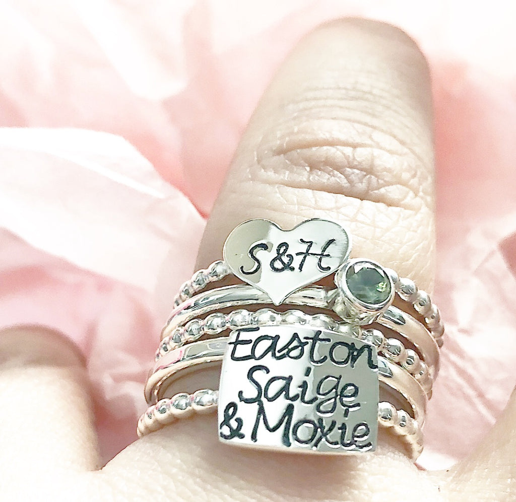 MY EVERYTHING RING SET WITH THREE NAMES