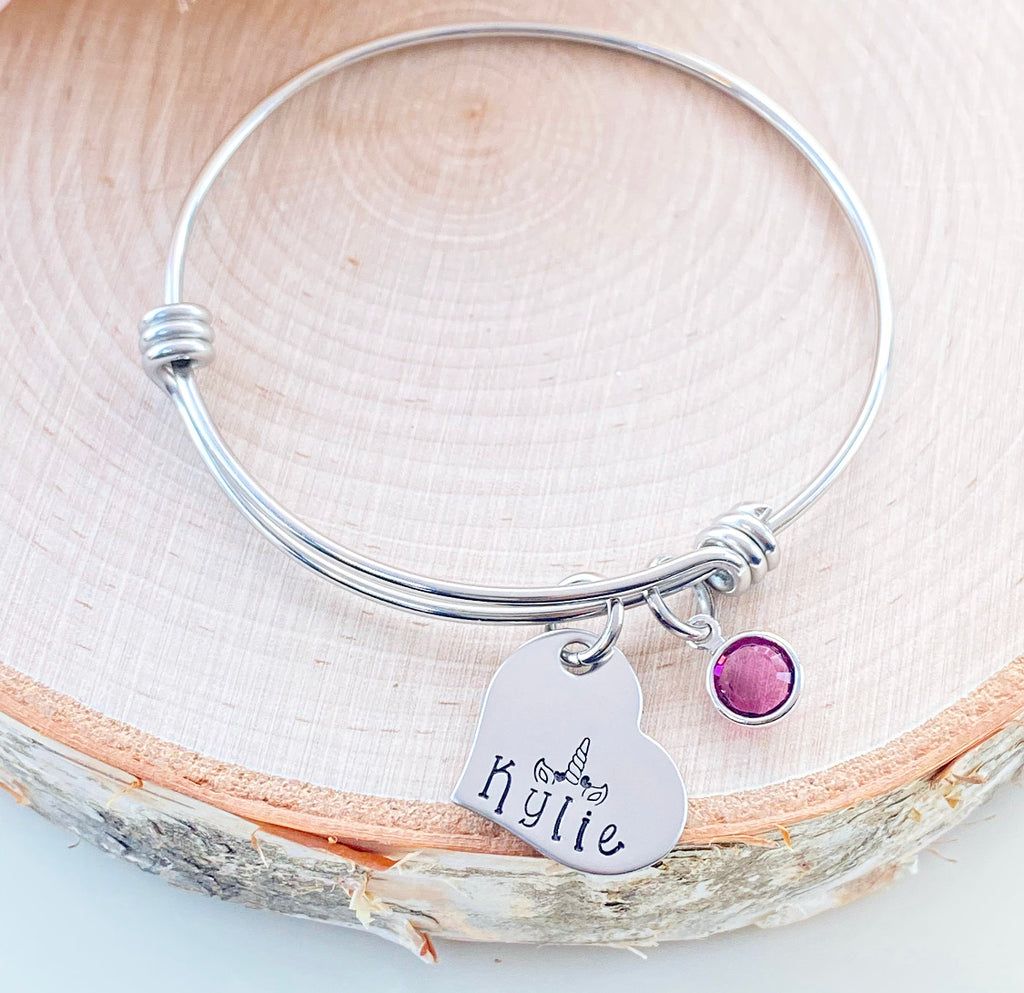 UNICORN LOVE BANGLE BRACELET