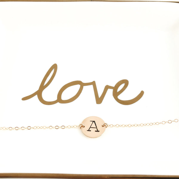LUXURIOUS DAINTY INITIAL