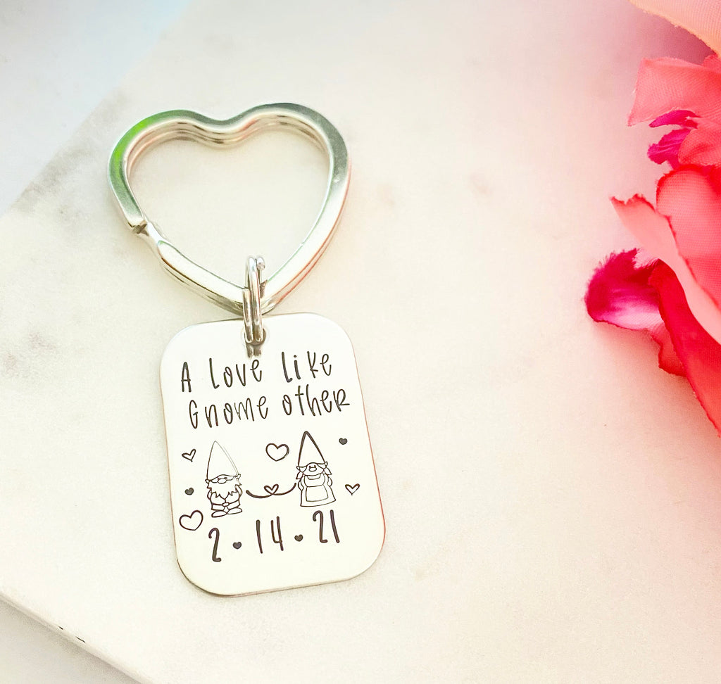 A LOVE LIKE GNOME OTHER KEYCHAIN