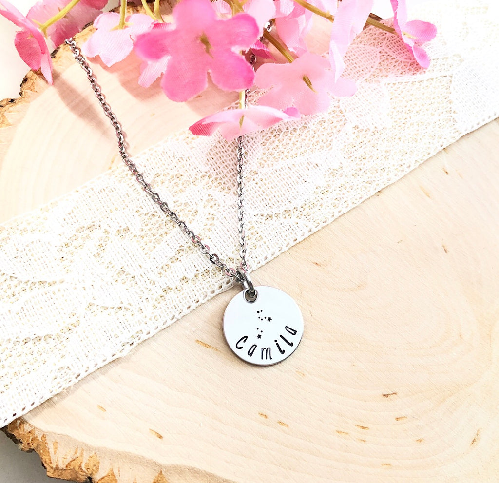 ZODIAC & CONSTELLATION NECKLACE WITH NAME
